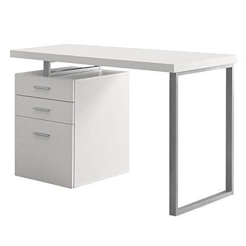 Monarch Specialties Hollow-Core Left or Right Facing Desk, 48-Inch Length, (Home Office Right Facing)