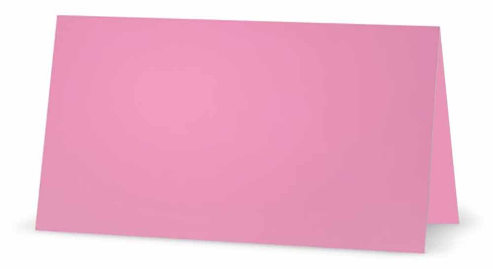 Pink Hearts on Pink Place Cards TENT STYLE Occasion or Dinner Event 10 PACK Placement Table Name Seating Stationery Party Supplies White Blank Front with Solid Color Border
