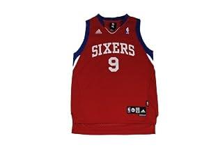 8d4a1b38da0 adidas Philadelphia 76ers #9 Andre Iguodala Red Swingman Basketball Jersey  (Large)