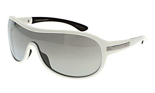 Porsche Design Gafas de sol P8487 - E: Blanco mate: Amazon ...