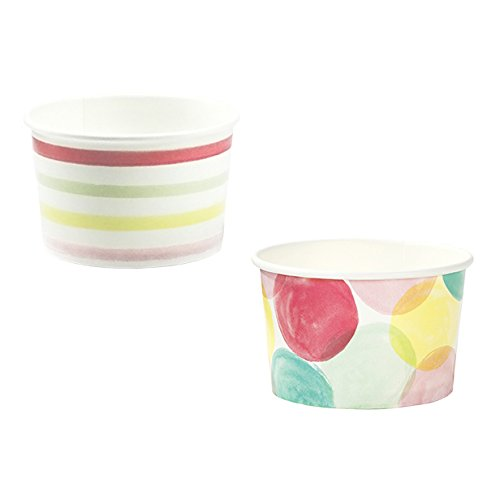 Talking Tables We Heart Ice Cream Mini Treat Tubs for a Birthday Party or General Celebration, Multicolor (10 Pack), 3 inches Dazzle Tub