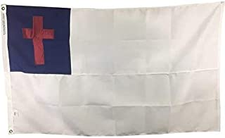 product image for 4x6' Christian Flag for Outdoor, Sewn All Weather Nylon, Made in USA