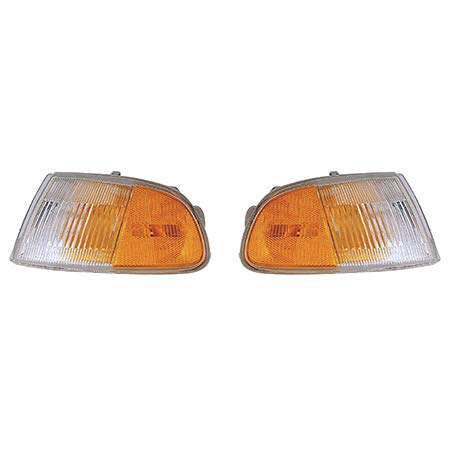 Fits 1992-1995 Honda Civic Pair Side Marker Lights Driver and Passenger Side for Coupe/2dr hatchback; signal/marker lamp combo HO2530115 HO2531115 - replaces 33351-SR3-A02 33301-SR3-A02