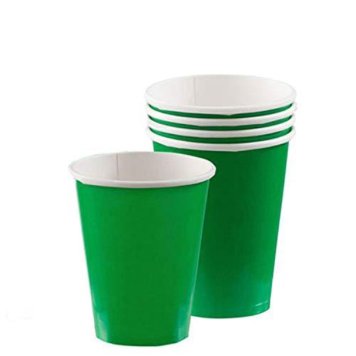 Amscan 12 Oz Plastic Cups (20 Piece), Festive Green