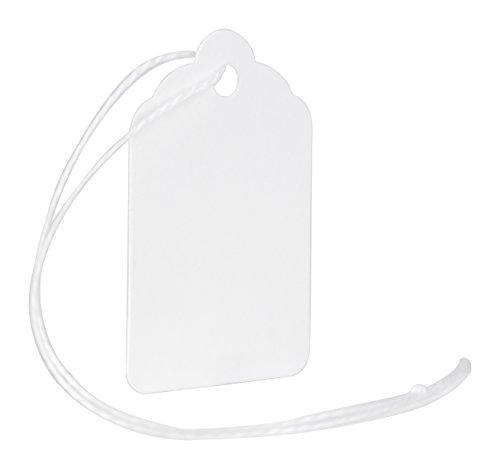 MACO White Strung Merchandise Tags, #5 - 1-3/32 x 1-3/4 Inches, 1000 Per Box (12-204) - Blank Merchandise Tag