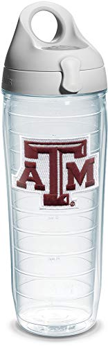 Aggies Water A&m Texas (Tervis Texas A and M University Emblem Individual Water Bottle with Gray Lid, 24 oz, Clear)