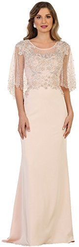 92c4801451f Formal Dress Shops Inc by Royal Queen RQ7592 Mother of The Bride Evening  Formal Long Dress (Blush