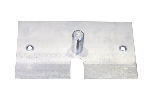 8-x-14-6-lb-Steel-Base-Plate-with-Pin-and-Edge-Protectors-For-Pipe-and-Drape-Displays-and-Backdrops