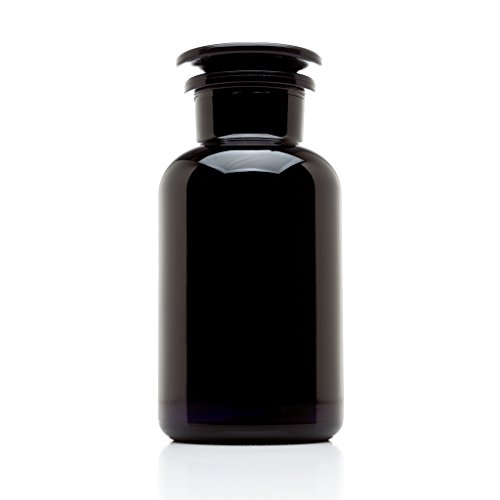 Infinity Jars 500 ml (17 fl oz) Black Ultraviolet All Glass Refillable Empty Apothecary ()