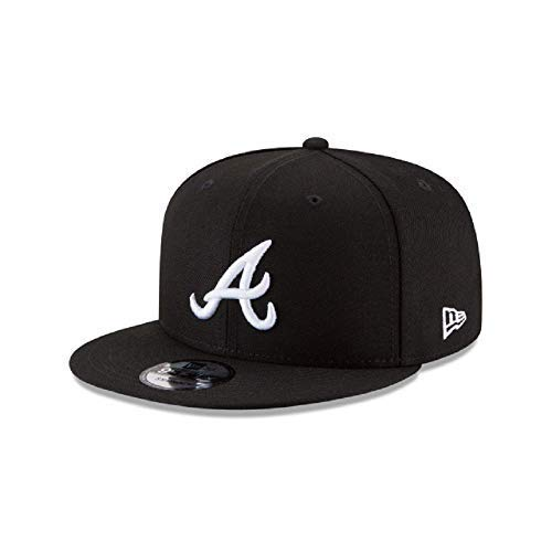 New Era Authentic Atlanta Braves Black & White 9Fifty Snapback Cap Adjustable 950 (Best New Era Caps)
