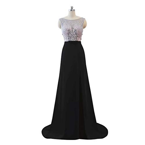 Spitze Formale Split Abendkleid der Ausschnitt Perlen Lange Hohe Frauen 7 V Ballkleider pwOOqz