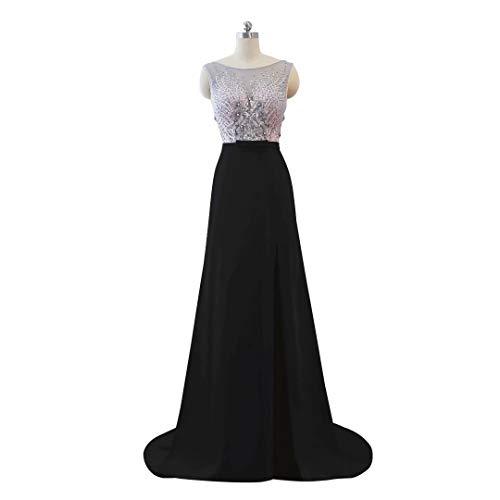 7 Spitze Ausschnitt Frauen Hohe Split V Abendkleid Perlen Ballkleider Formale der Lange Ux4SqP