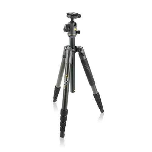 Vanguard VEO 2 265CB Carbon Fiber Travel Tripod with VEO 2 BH-50 Ball Head for Sony, Nikon, Canon, Fujifilm Mirrorless, Compact System Camera (CSC), DSLR