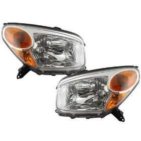 Toyota Rav4 Headlights OE Style Replacement Headlamps Driver/Passenger Pair New (Rav4 Driver Toyota Headlight)