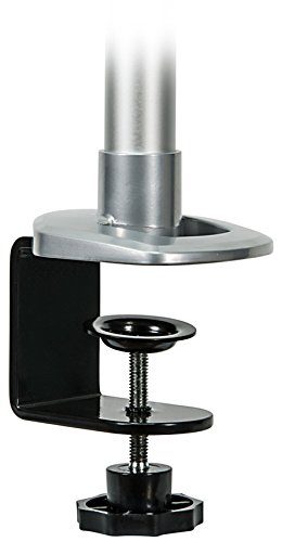Mount-It! MI-75816 Full Motion Articulating, Tilting, Adjustable Height, Rotating, Swiveling Arm Mount for LCD, LED, and Computer Monitor Displays with Single Arm Vented Cooling Fan Stand for Laptops, Tablets, and Notebooks, C-clamp, Silver by Mount-It! (Image #1)