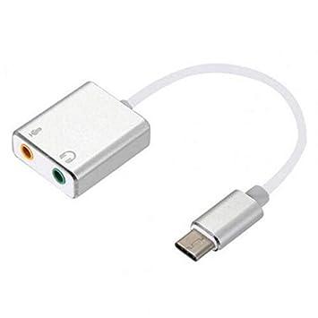 TOOGOO Conector Tipo C Cable de Tarjeta de Sonido Divisor ...