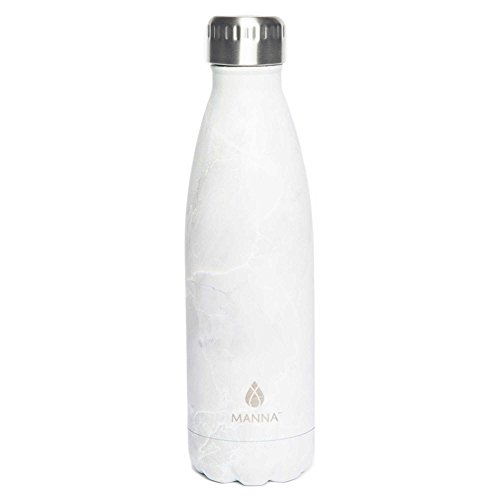 Manna Vogue 17 oz. Water Bottle in White Marble