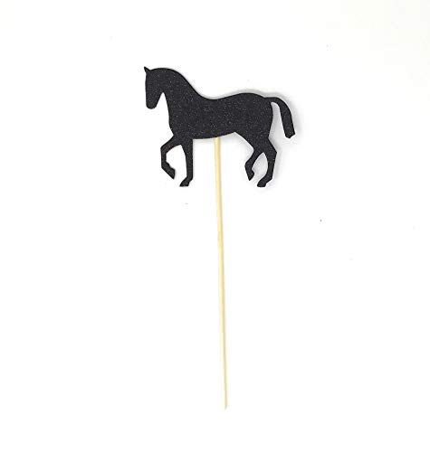 PaperGala Horse Double Sided Centerpiece Sticks Set of 8 Real Glitter -