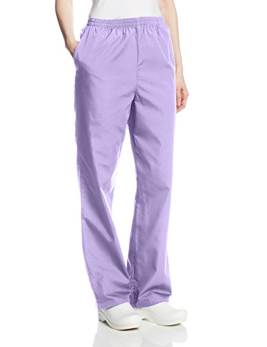 Classic Cotton Uniform (Cherokee Women's Workwear Scrubs Pull-On Pant, Orchid, X-Large-Petite)