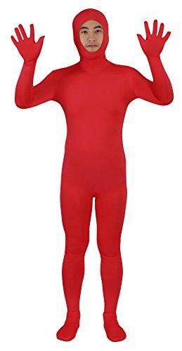 Sheface Spandex Open Face Zentai Suit Halloween Costumes (S, (Zipper Face Costumes)