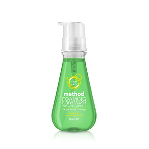 Method Naturally Derived Foaming Body Wash, Cucumber Mint, 18 Ounce (6 Count)