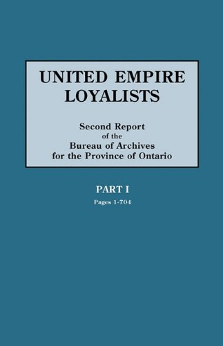F.R.E.E United Empire Loyalists. Enquiry Into the Losses and Services in Consequence of Their Loyalty. Evide DOC