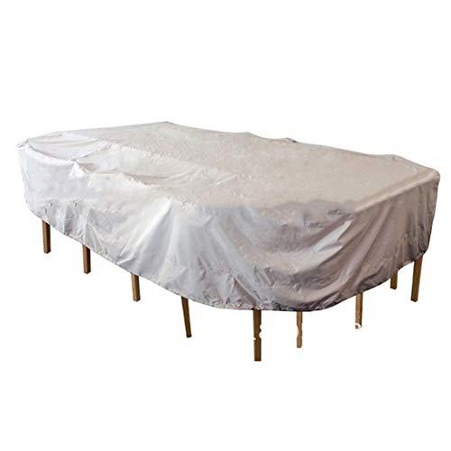 (PENGFEI Garden Furniture Covers Terrace Coffee Table Dust-Proof Sunscreen Rainproof, Silver + Black (Size : 235X135X94CM))
