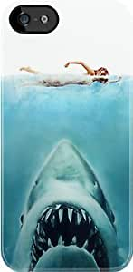 SUUER Jaws Custom Hard CASE for iPhone 5 5s case -white CASE by lolosakes