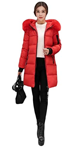 security Womens Long Sleeve Thicker Down Coat Hooded Outwear 5