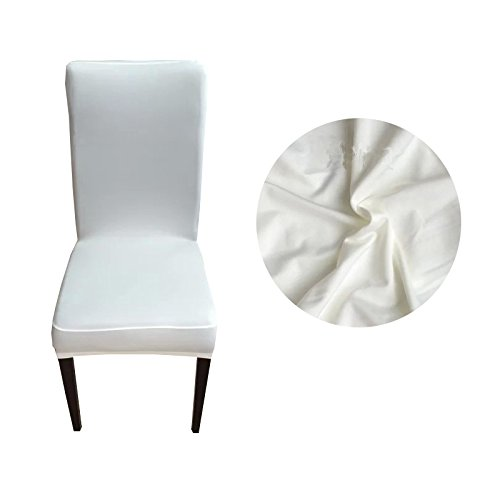 ChooseU Stretch 90% Polyester and 10% Spandex Removable Washable Short Dining Chair Slipcovers for Wedding Banquet Party Office (Duck Short Dining Chair Slipcovers)