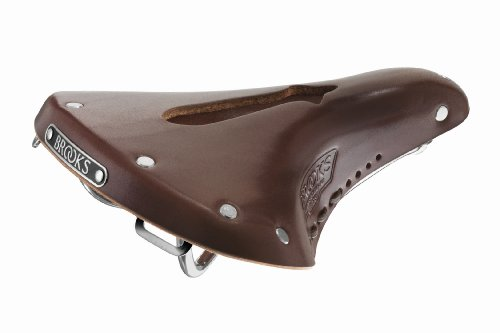Brooks Saddles Men's Imperial B17 Standard Bike Saddle with Hole and Laces, Antique Brown Brooks Leather Saddle