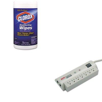 KITAPWPER7TCOX01761EA - Value Kit - Apc SurgeArrest Personal Pwr Surge Protector w/Tel Protect (APWPER7T) and Clorox Disinfecting Wipes (COX01761EA)