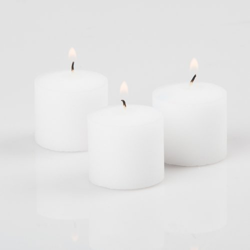 Richland Votive Candles White Unscented 10 Hour Burn Set of 144 by Richland