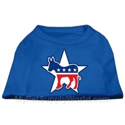 Democrat Dog T-shirt (Mirage Pet Products 12-Inch Democrat Screen Print Shirt for Pets, Medium)