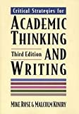 Critical Strategies for Academic Thinking and Writing, Kiniry, 031211804X