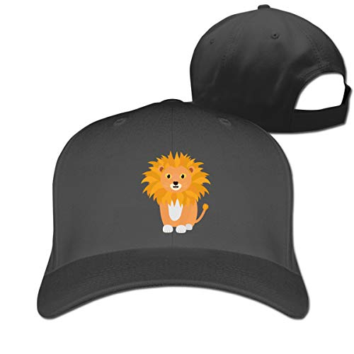 Humor Lion Pure Color Baseball Caps Adjustable Dad Trucker Hats Unisex Black