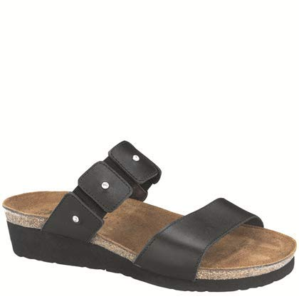 Naot Women's Ashley Sandal,Black Madras Leather,39 EU/7.5-8 M US