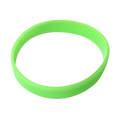 Vitalite 100pcs/set Plain Silicone Wristbands Blank Rubber Bracelets for Adult (Fluorescent green)