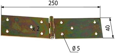 verzinkt 250 mm x 40 mm x 2 mm Tischb/änder 10 Scharniere Tischband