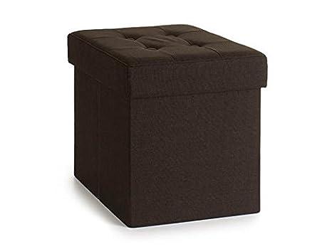 Takestop pouf pieghevole tessuto quadrato portatutto contenitore