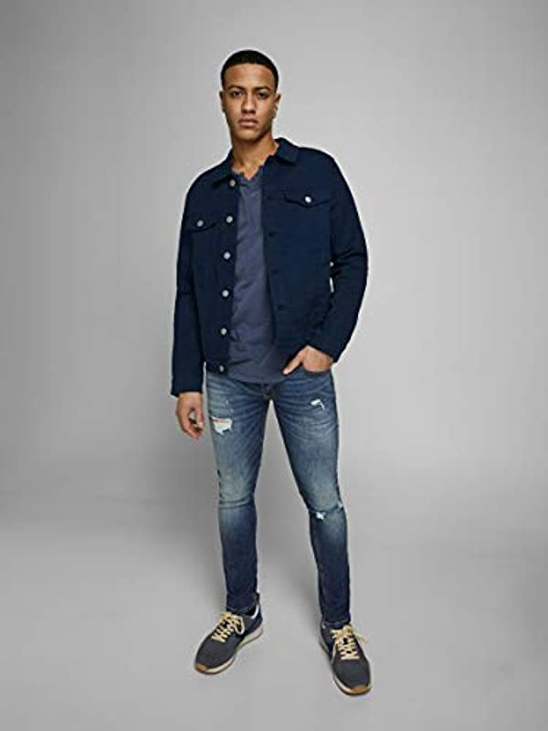 JACK & JONES Male Slim Fit Jeans Glenn original GE 141: Odzież
