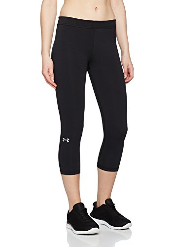 Under Armour Women's Favorite Capri, Black (001)/Metallic Silver, Large by Under Armour