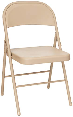 - Cosco All Steel Folding Chair Antique Linen (4-pack)