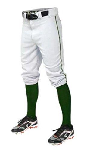 Easton Men's Baseball Pants Pro Plus Piped Knicker Short (White/Maroon, 2XL) Easton Baseball Shorts