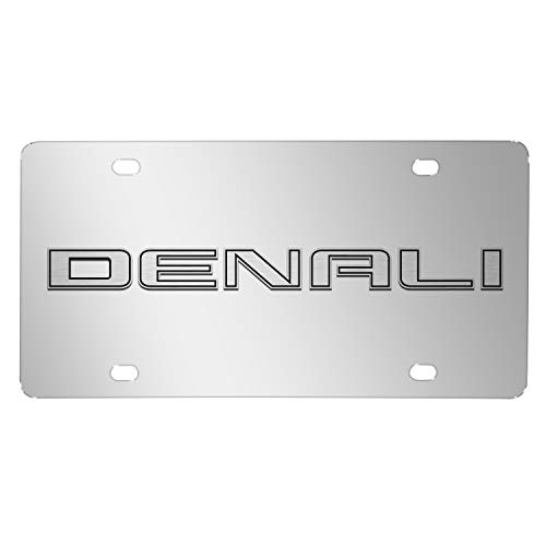 iPick Image GMC Denali Nameplate 3D Logo Chrome Stainless Steel License Plate