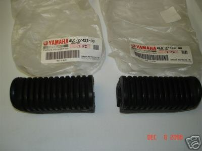 Used, Yamaha XJ XZ XV SR step rubber set for sale  Delivered anywhere in USA