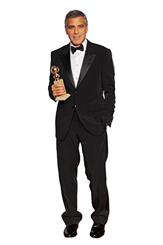 GEORGE CLOONEY GOLDEN GLOBES LIFESIZE CARDBOARD STANDUP STANDEE CUTOUT POSTER