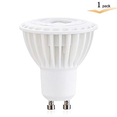 LED 3 watt GU10 LED Dimmable Bulb, Halogen 25 watt Equivalent, GU10 COB LED Spotlight Flood Bulb, Warm White 2700K,38 Degrees , AC 120V, Recessed Lighting,GU10 Track Lighting(Pack of 1)