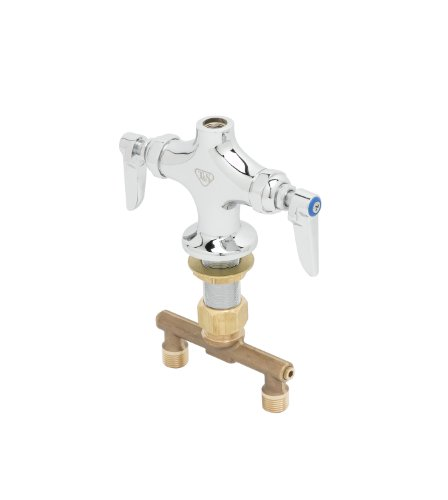 TS Brass B-0300-LN Double Pantry Faucet with Rigid Outlet Connection, Chrome