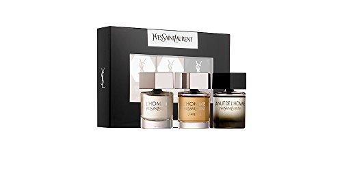 - Yves Saint Laurent YSL 3 Piece Miniature Coffret Set: L'Homme .25 oz Eau de Toilette + L'Homme Intense .25 oz Eau de Parfum + La Nuit de L'Homme .25 oz Eau de Toilette